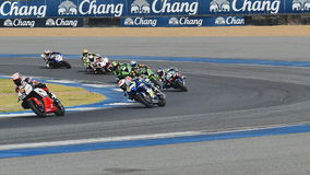 Asia Road Racing Championship 2016. BURIRAM - DECEMBER 4 : Racer of Super Sport 600cc. in Asia Road Racing Championship 2016 Round 6 at Chang International stock video footage