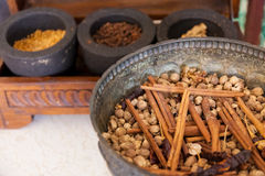 Asia's Traditional Herbs Stock Image