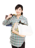 Asia shopaholic Royalty Free Stock Photo