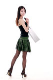 Asia shopping girl Stock Photography