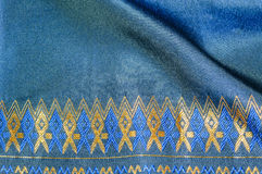 Asia silk fabric pattern background. Tradition asia silk fabric pattern background Stock Photos