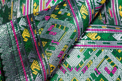 Asia silk fabric pattern background. Tradition asia silk fabric pattern background Stock Photo