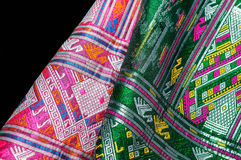 Asia silk fabric pattern background. Tradition asia silk fabric pattern background Stock Images