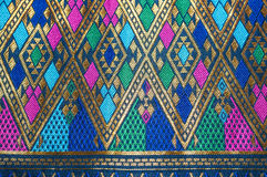 Asia silk fabric pattern background Royalty Free Stock Photos