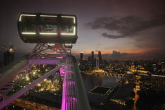 ASIA SINGAPORE CITY DOWN TOWN CITYSCAPE FERRIS WHEEL Royalty Free Stock Photography