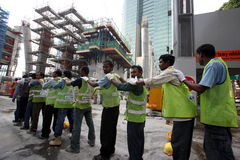 ASIA SINGAPORE ECONOMY WORKERS Stock Photography
