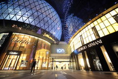 ASIA SINGAPORE ORCHARD ROAD SHOPPING MALL. Modern architecture and shopping malls at the Orchard Road in the city of Singapore in Southeastasia Royalty Free Stock Photo