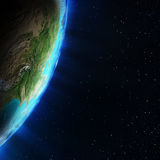 Asia from space Royalty Free Stock Photos
