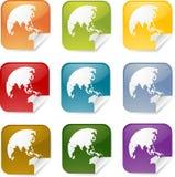 Asia square sticker Stock Photo