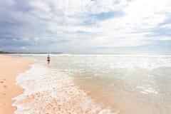 Sri Lanka - Ahungalla - A walk through the surge of the ocean. Asia - Sri Lanka - Ahungalla - A walk through the surge of the ocean royalty free stock photos