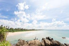Sri Lanka - Ahungalla - Where natives relax while fishing. Asia - Sri Lanka - Ahungalla - Where natives relax while fishing Royalty Free Stock Photography