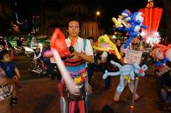 Asia street artist,  ballloon comic Royalty Free Stock Photos