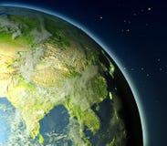 Asia sudoriental de la órbita stock de ilustración