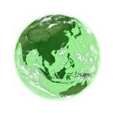 Asia sudoriental en la tierra verde stock de ilustración