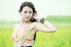 Asia summer girl Royalty Free Stock Images
