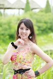 Asia summer girl outdoor Stock Photography