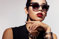 Asia in sunglasses e Royalty Free Stock Photos
