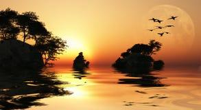 Asia Sunrise Royalty Free Stock Images