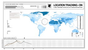 Asia Surveillance. Monitor with tracking stock video footage