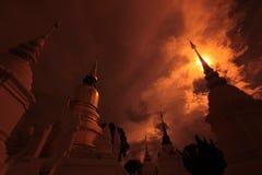 ASIA TAILANDIA CHIANG MAI WAT SUAN DOK Foto de archivo