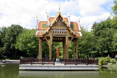 Asia temple in munich. Temle in westpark,munich Royalty Free Stock Image