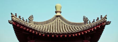 Asia temple roof. An asian temple roof, curval Royalty Free Stock Photo
