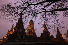 ASIA THAILAND AYUTHAYA WAT CHAI WATTANARAM Royalty Free Stock Photos