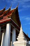 Asia  thailand   bangkok   abstract    roof wat    colors     mo Royalty Free Stock Image