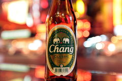 ASIA THAILAND BANGKOK CHANG BEER Stock Images