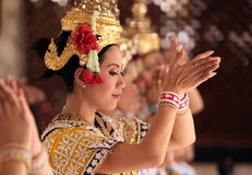 ASIA THAILAND BANGKOK ERAWAN SHRINE THAI DANCE Stock Photo