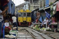 ASIA THAILAND BANGKOK MAEKLONG RAILWAY Royalty Free Stock Photography