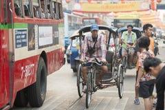 ASIA THAILAND BANGKOK NOTHABURI TRANSORT BICYCLE TAXI Royalty Free Stock Image