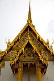 Asia  thailand  in  bangkok  rain   temple   colors religion  mo Royalty Free Stock Photos