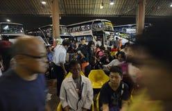 ASIA THAILAND BANGKOK TRANSPORT BUS TERMINAL Stock Photo