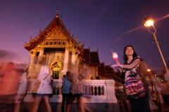ASIA THAILAND BANGKOK WAT BENCHAMABOPHIT FESTIVAL Royalty Free Stock Photo