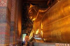 Asia Thailand Bangkok Wat Pho Temple. Huge golden Buddha Stock Photos