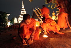 ASIA THAILAND CHIANG MAI WAT PHAN TAO Stock Image