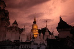 ASIA THAILAND CHIANG MAI WAT SUAN DOK Royalty Free Stock Photo