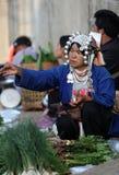 ASIA THAILAND CHIANG RAI MAE SALONG MARKET Royalty Free Stock Image