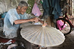 ASIA THAILAND CHIANG UMBRELLA. A Umbrella Factory near  the city of chiang mai in the north of Thailand in Southeastasia Stock Images