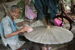 ASIA THAILAND CHIANG UMBRELLA. A Umbrella Factory near  the city of chiang mai in the north of Thailand in Southeastasia Stock Image