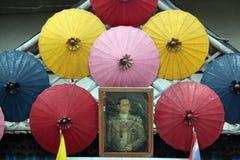 ASIA THAILAND CHIANG UMBRELLA. A Umbrella Factory near  the city of chiang mai in the north of Thailand in Southeastasia Stock Photos
