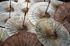 ASIA THAILAND CHIANG UMBRELLA. A Umbrella Factory near  the city of chiang mai in the north of Thailand in Southeastasia Stock Photography
