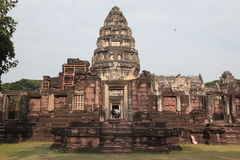 ASIA THAILAND ISAN KHORAT PHIMAI KHMER TEMPLE. The phimai khmer Temple in the town of Phimai near the city of Khorat or Nakhon Ratchasima in the Region of Isan Stock Photo