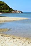 Asia in thailand kho phangan bay isle white  beach Royalty Free Stock Photos