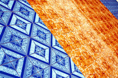 Asia in  thailand kho samui  abstract cross texture floor Royalty Free Stock Image