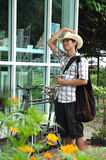 Asia Thailand Man Smile Garden Royalty Free Stock Photos