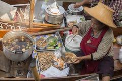 ASIA THAILAND SAMUT SONGKHRAM THA KHA FLOATING MARKET Royalty Free Stock Photography