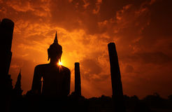 ASIA THAILAND SUKHOTHAI TEMPLE MAHATHAT Royalty Free Stock Images