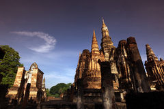 ASIA THAILAND SUKHOTHAI TEMPLE MAHATHAT Royalty Free Stock Photography